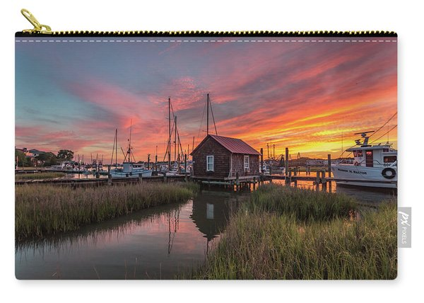 Carry-all Pouch featuring the photograph Colors Of Shem Creek - Mt. Pleasant Sc by Donnie Whitaker