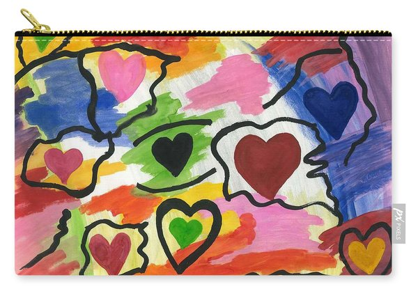 Colors Of The Heart Carry-all Pouch