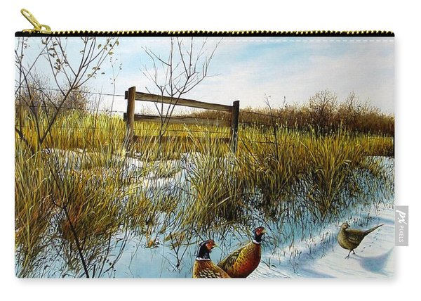 Colors Of Winter - Pheasants Carry-all Pouch