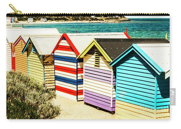 Colourful Bathing Sheds Carry-all Pouch