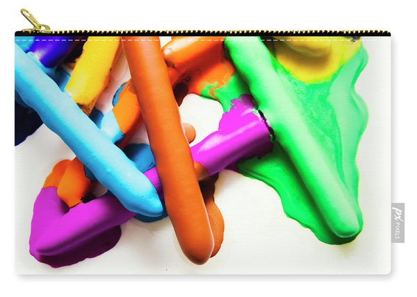 Colourful Crayon Art Carry-all Pouch