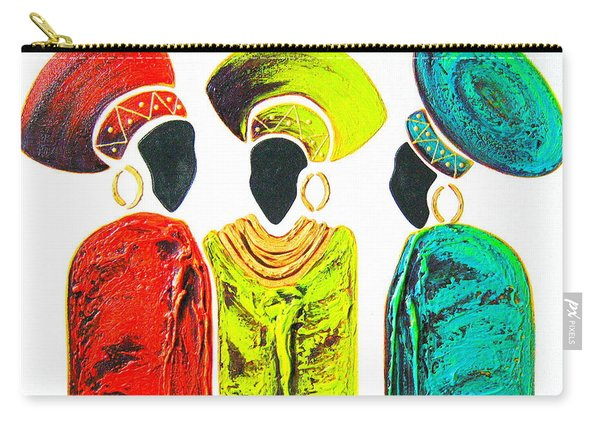 Colourful Trio - Original Artwork Carry-all Pouch