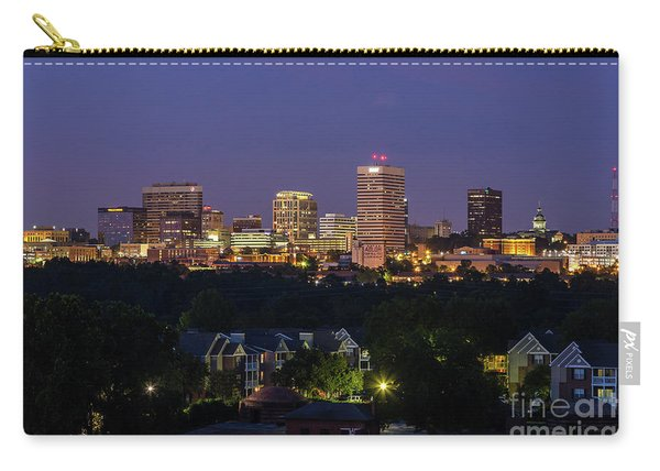 Columbia Skyline At Twilight Carry-all Pouch
