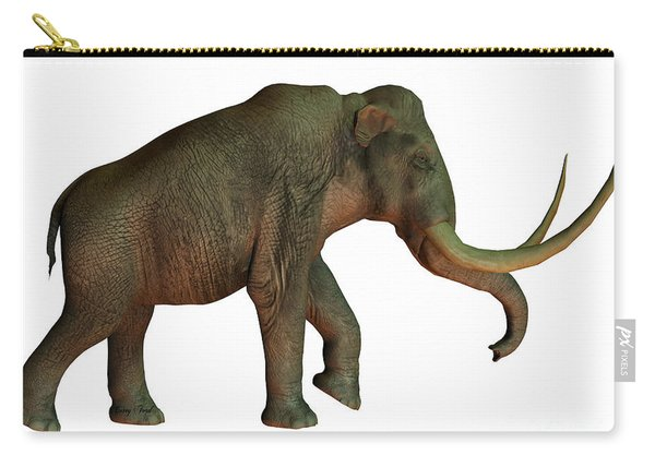 Columbian Mammoth On White Carry-all Pouch