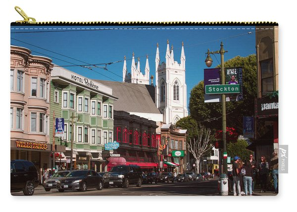 Columbus And Stockton In North Beach Carry-all Pouch