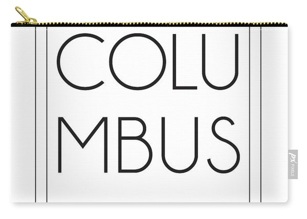 Columbus, United States Of America - City Name Typography - Minimalist City Posters Carry-all Pouch