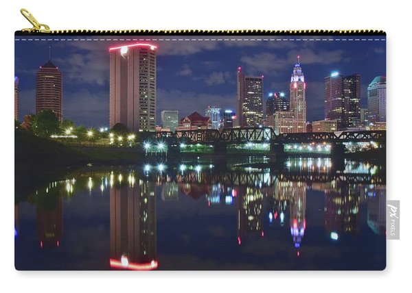 Columbus Ohio Panorama Over The Scioto Carry-all Pouch