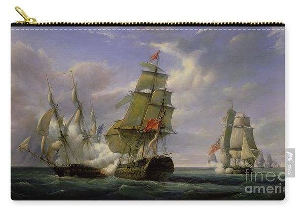 Combat Between The French Frigate La Canonniere And The English Vessel The Tremendous Carry-all Pouch