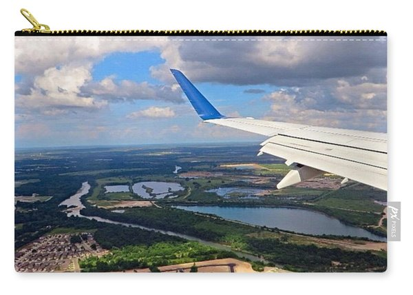 Coming In For A Landing In #austin Carry-all Pouch