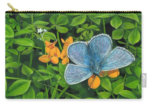 Common Blue On Bird's-foot Trefoil Carry-all Pouch