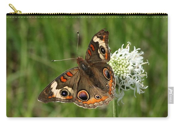 Common Buckeye Butterfly On Wildflower Carry-all Pouch