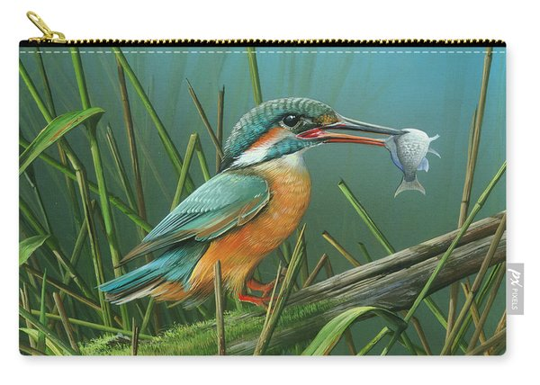 Common Kingfisher Carry-all Pouch
