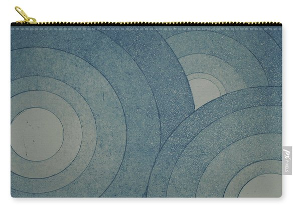 Concentric Blue Carry-all Pouch