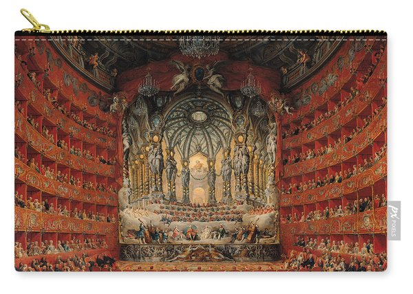 Concert Given By Cardinal De La Rochefoucauld At The Argentina Theatre In Rome Carry-all Pouch