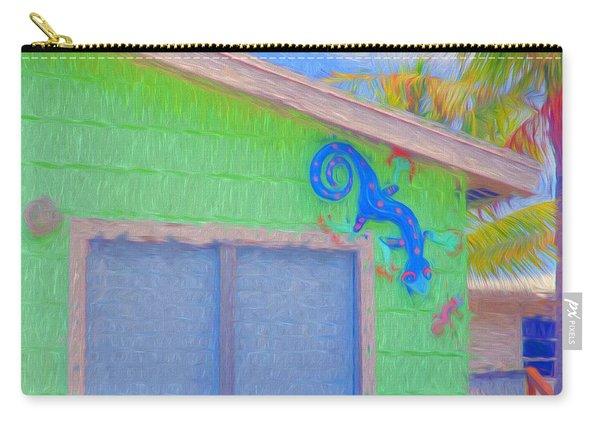 Conch Key Lizard Wall Art Carry-all Pouch
