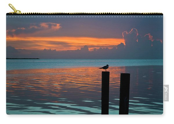 Conch Key Sunset Bird On Piling Carry-all Pouch