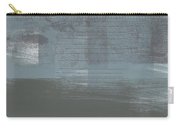 Concrete 1- Contemporary Abstract Art By Linda Woods Carry-all Pouch
