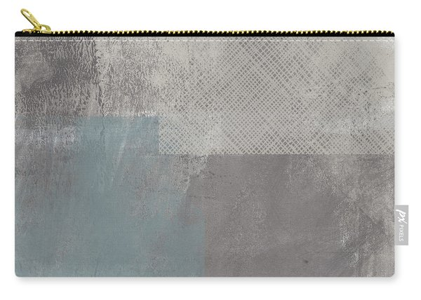 Concrete 3- Contemporary Abstract Art By Linda Woods Carry-all Pouch