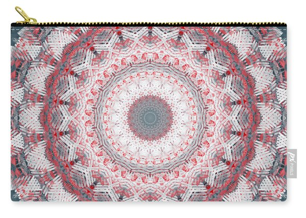 Concrete And Red Mandala- Abstract Art By Linda Woods Carry-all Pouch