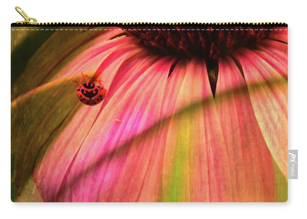 Cone Flower And The Ladybug Carry-all Pouch