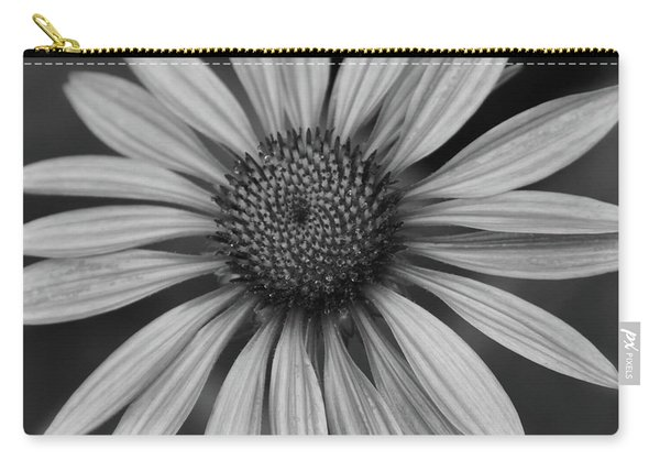 Coneflower In Black And White Carry-all Pouch