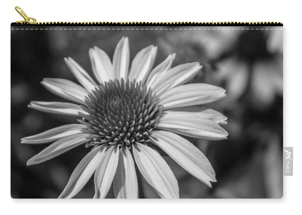 Conehead Daisy In Black And White Carry-all Pouch