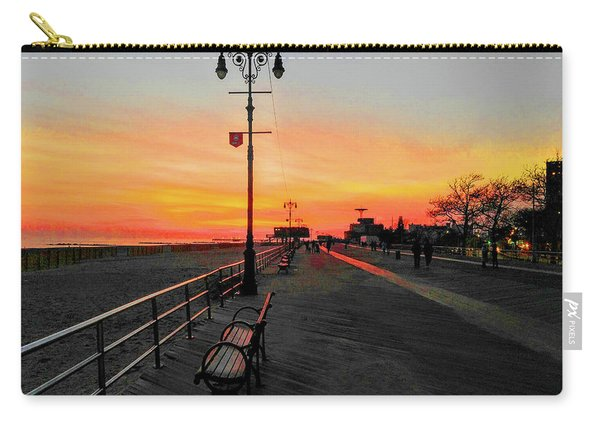 Coney Island Boardwalk Sunset Carry-all Pouch