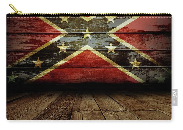 Confederate Flag On Wall Carry-all Pouch