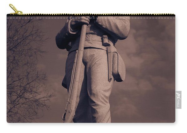 Confederate Statue  Standing Guard Carry-all Pouch