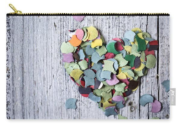 Confetti Heart Carry-all Pouch