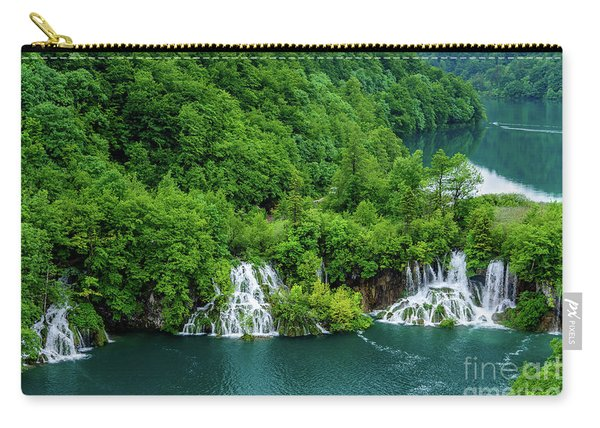 Connected By Waterfalls - Plitvice Lakes National Park, Croatia Carry-all Pouch
