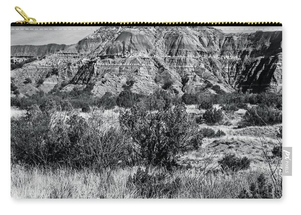 Contemplation Bench Bw Carry-all Pouch