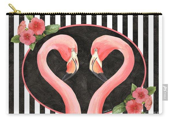 Contemporary Flamingos 1 Carry-all Pouch