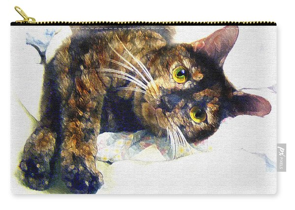 Contented Cat Carry-all Pouch