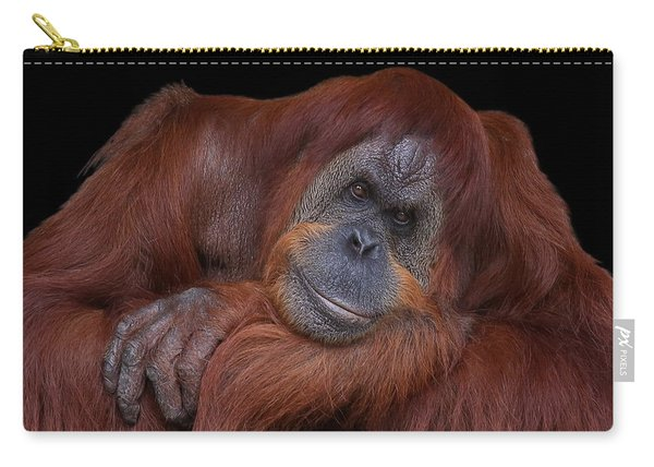 Contented Orangutan Carry-all Pouch