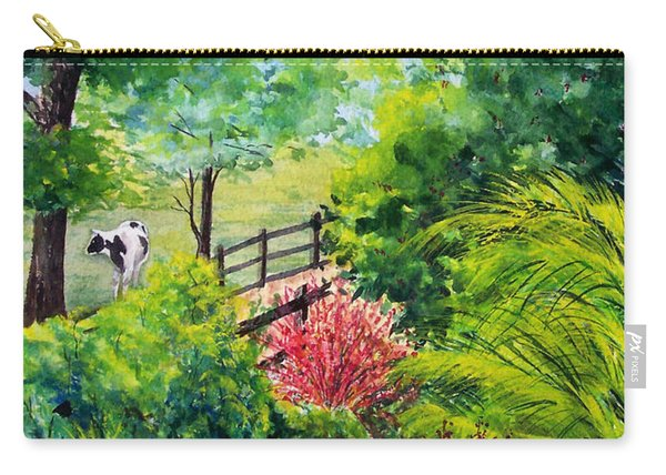Carry-all Pouch featuring the painting Contentment by Nancy Cupp