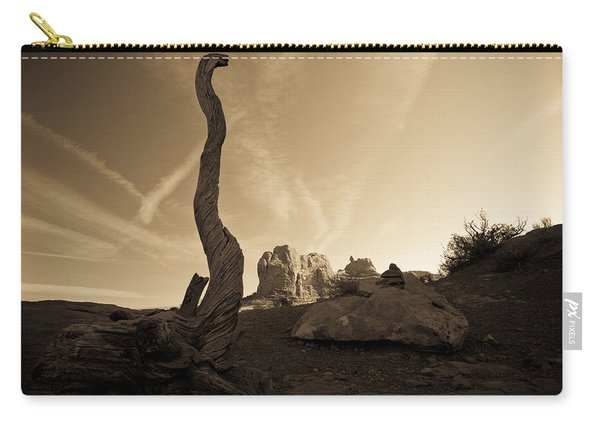 Contrails And Driftwood Carry-all Pouch