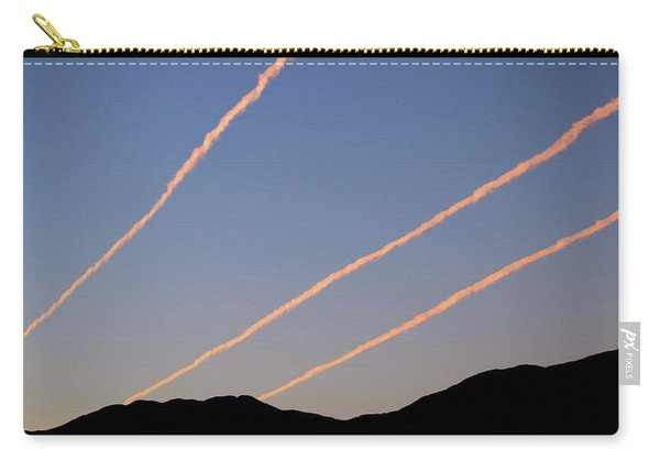 Contrails Over The Central Coast Carry-all Pouch