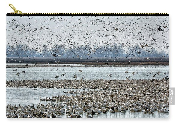 Controlled Chaos - Snow Geese Carry-all Pouch