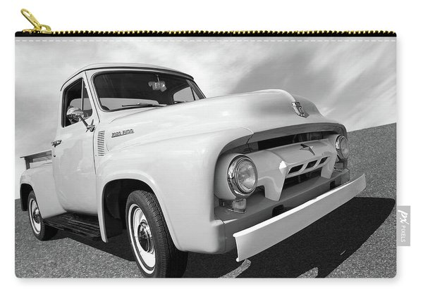 Cool As Ice - 1954 Ford F-100 In Black And White Carry-all Pouch