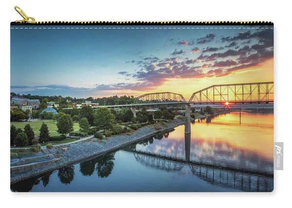 Coolidge Park Sunrise Panoramic Carry-all Pouch
