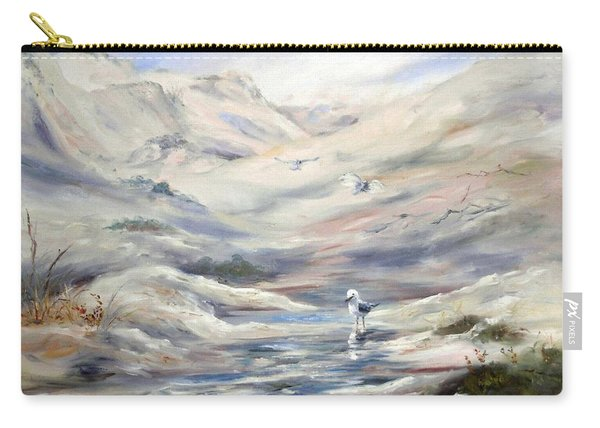 Carry-all Pouch featuring the painting Coorong, South Australia. by Ryn Shell