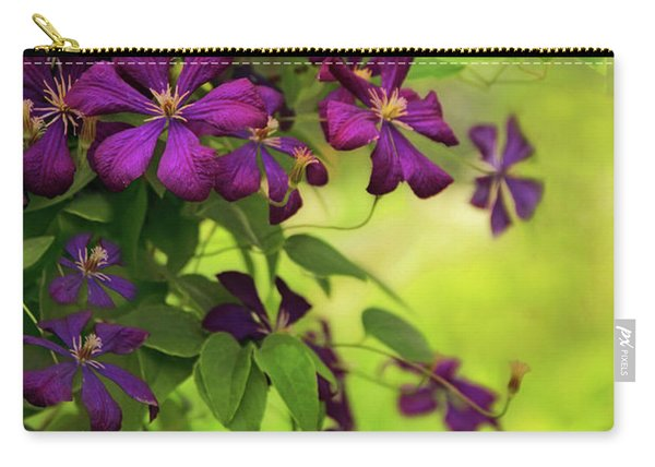 Copious Clematis Carry-all Pouch