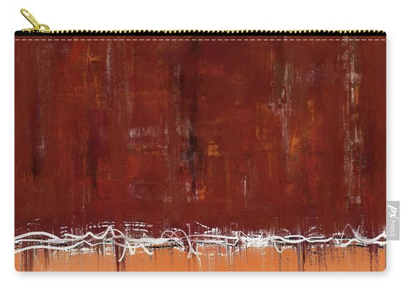 Copper Field Abstract Painting Carry-all Pouch