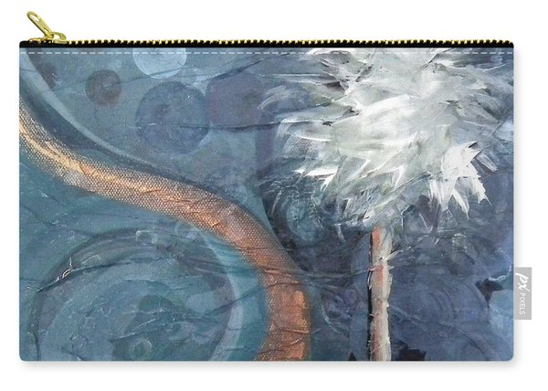 Copper Swirl Horizon Palm Carry-all Pouch