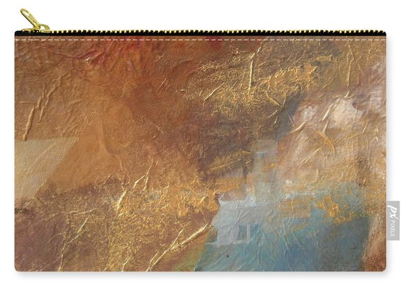 Copper Turquoise Abstract Carry-all Pouch