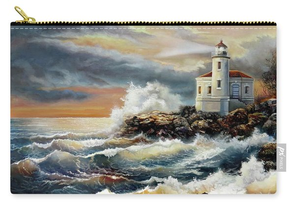 Coquille River Lighthouse At Hightide Carry-all Pouch