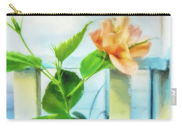 Coral Hibiscus Cezanne Carry-all Pouch
