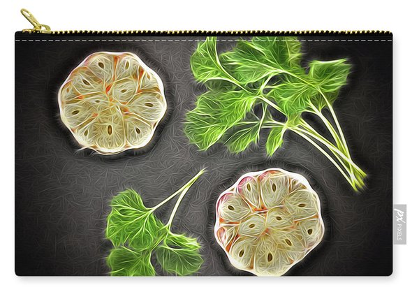 Coriander And Garlic Still Life. Carry-all Pouch