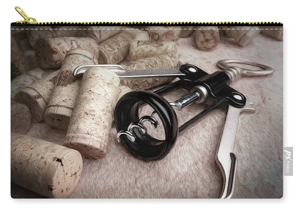 Corkscrew Wine Corks Still Life Carry-all Pouch